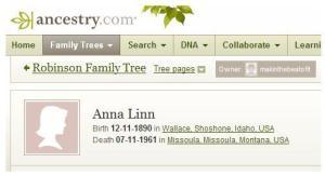 Anna Linn Family Tree