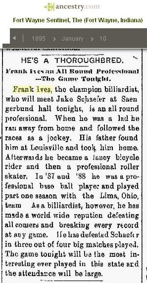 1895 - Frank Ives in the news