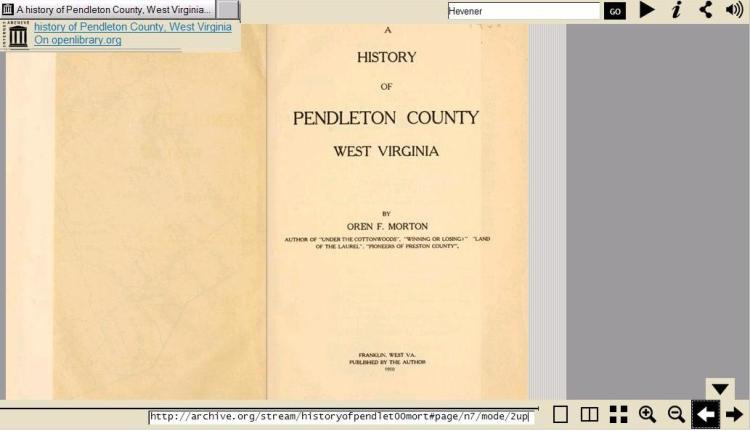 A History of Pendleton County WV 1910