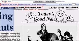 1981 Newspaper