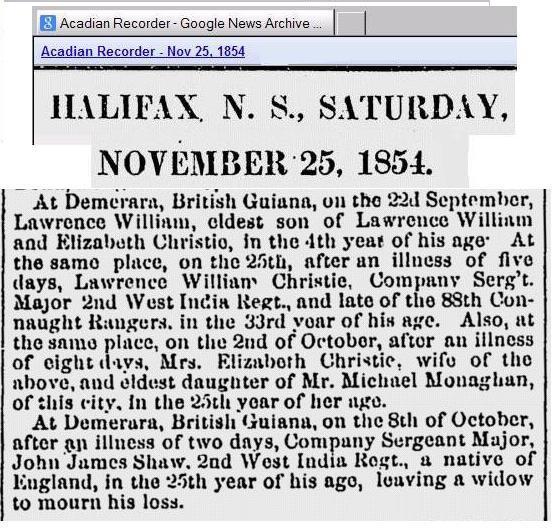 British Guiana Family 1854