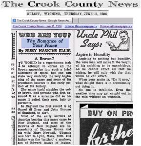 Crook County News