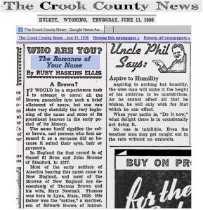 Crook County News