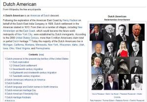 Dutch American in Wikipedia