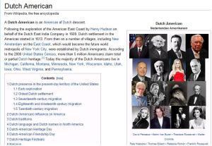 Dutch American in Wikipedia