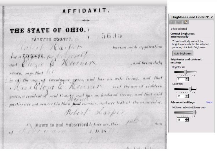 Eliza E Hevener wed Robert Harper 1871