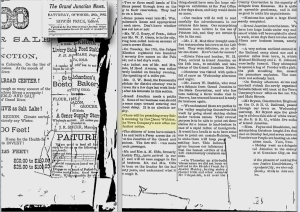 Ancestry.com newspaper screen print