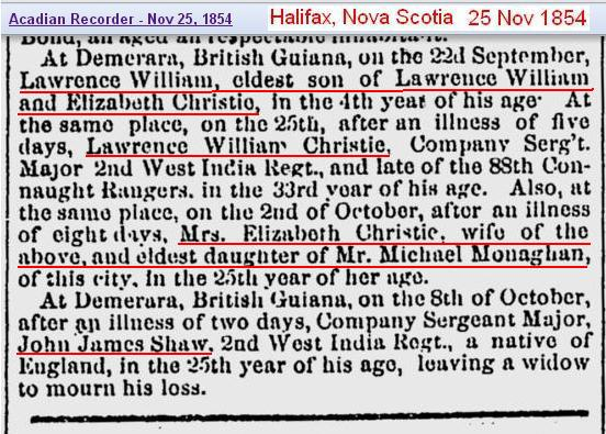 Obit - Lawrence William son age 4 1854 new