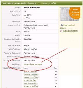 Neighbors census list