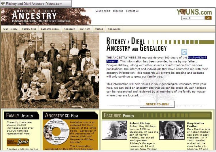 Ritchey - Diehl Ancestry