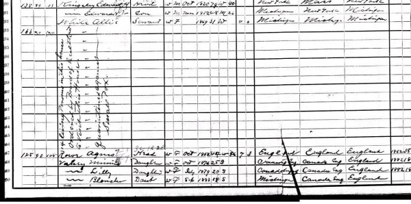 Full census page 1900