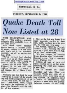 Yellowstone Quake 1959