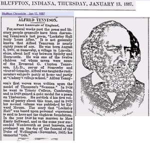 Alfred Tennyson News