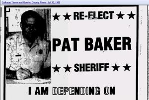 Re-Elect Pat Baker
