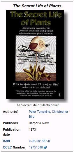 Secret Life of Plants from Wiki 1973