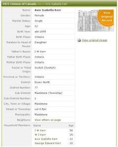 1921 census text