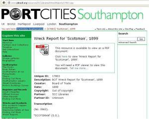 Scotsman - Wreck 1899 - web page 2