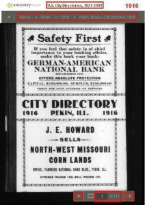 03 - 1916 - City Directory - Pekin, Illinois