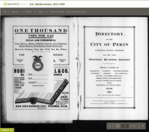 04 - 1916 - City Directory - Pekin, Illinois 001