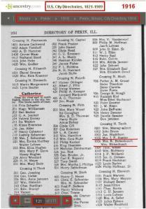 08 - 1916 - Mrs K and Wm Birkenbusch 1006 Catherine