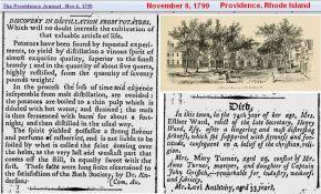 1799 - Spirits in Rhode Island