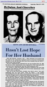 1973 - News about her husband
