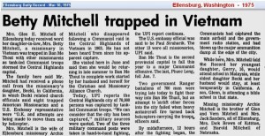 1975 - Mar - Mrs Mitchell trapped in Vietnam