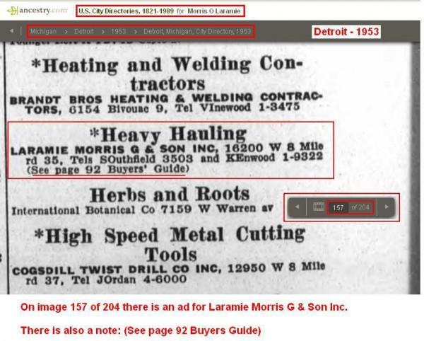 2 - 1953- Text listing Laramie