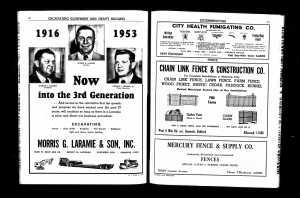 4 - 1953 - City Dir Harry M Schinbine Seldon - Detroit full page
