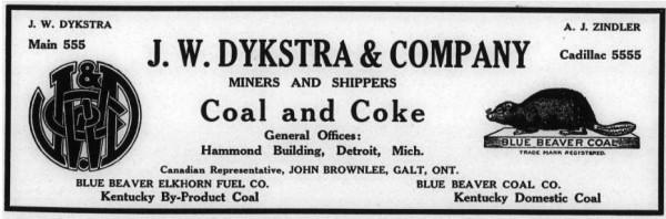 Blog - J W Dykstra and Company - 1920 ad