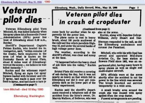 Obit - Vern Mitchell - 18 May 1980 - Wash