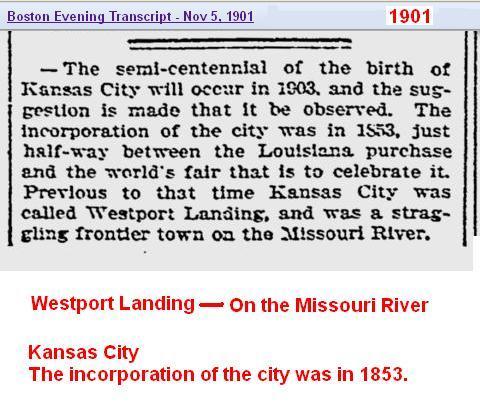 1901 - Westport Landing