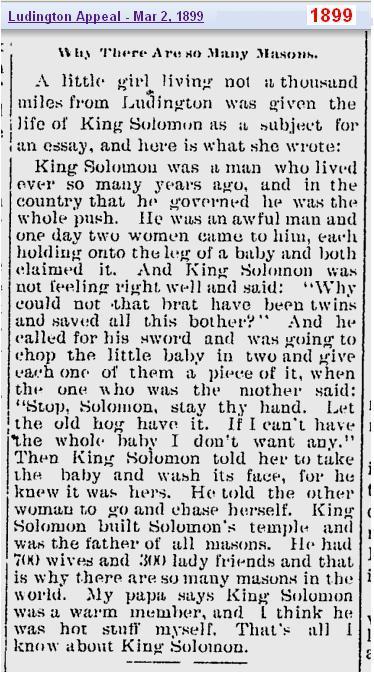 King Solomon 1899