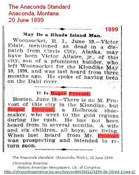 1899 - Lost in Klondike - Provost