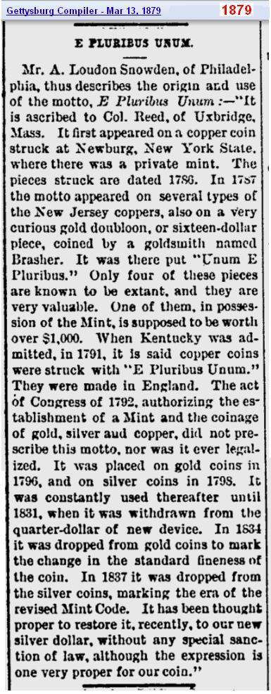 Mar 1879 - E Pluribus Unum