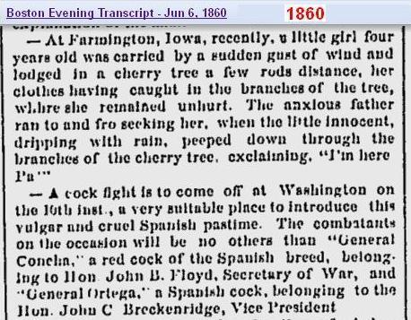 News 1860 Boston