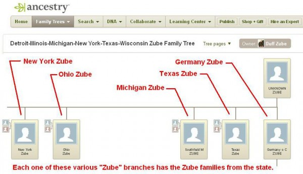 Zube Family Tree by Duff
