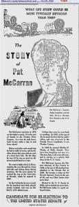 Blog 1 - 1944 - Pat McCarran re-elect pol. ad - Nev