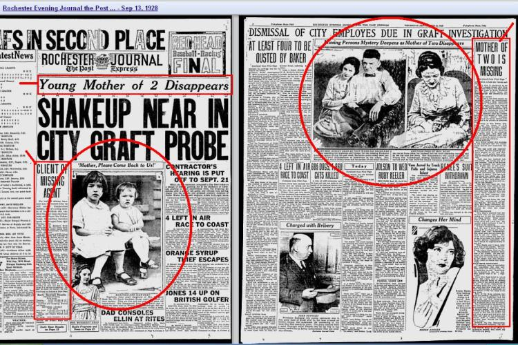 Copy of Two Little Girls on Front Page 1928 - NY