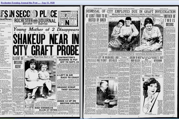 Two Little Girls on Front Page 1928 - NY