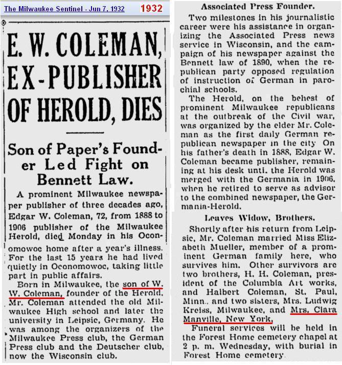 Slide 7 - Edgar W Coleman obit 1932 Jun - CONFIRMED