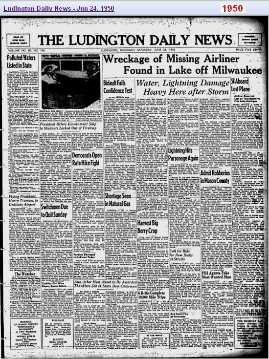 24-jun-1950-ludington-newspaper-crash