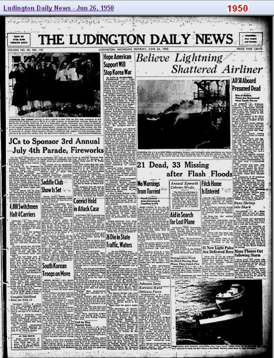 26-jun-1950-ludington-newspaper-crash