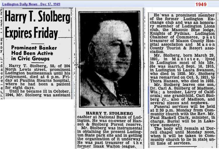 obit-harry-t-stolberg-dec-1949-ludington