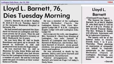 Obit 2 - Lloyd Barnett Apr 1984