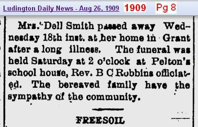 2 - death Lucy Smith obits on 26 Aug 1909 - page 8 - 1