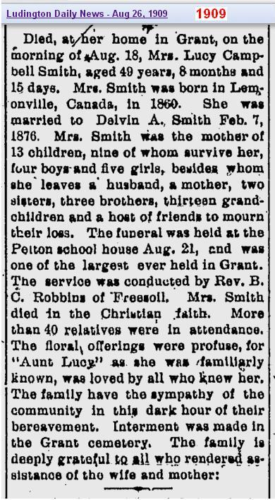 2 - obit Lucy Smith obits on 26 Aug 1909 - page 8 - 2