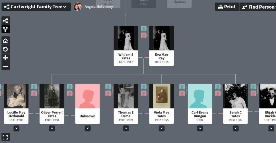 Yates family tree - daughter - where is Sylvia 2