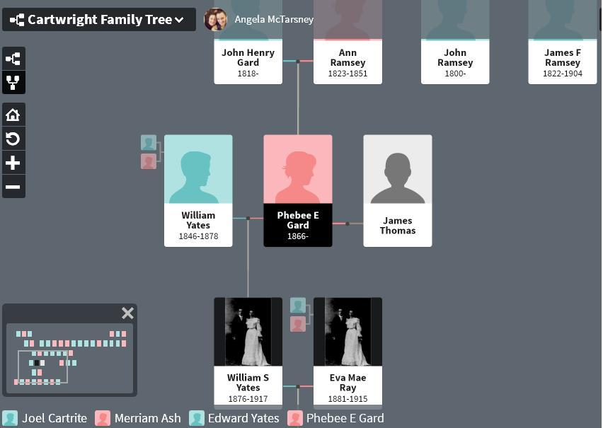 Yates family tree - daughter - where is Sylvia
