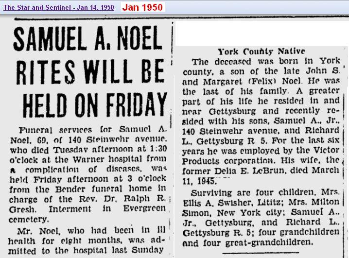 obit - Samuel A Noel - Jan 1950 - Penn 02